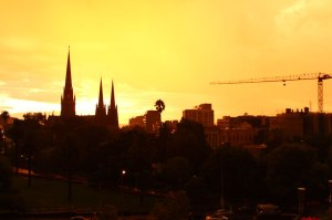 Sunrise over East Melbourne